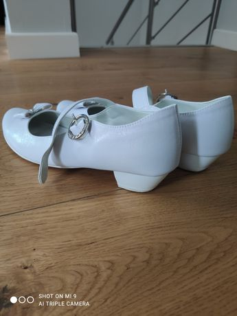 Buty dziewczęce białe komunijne 37