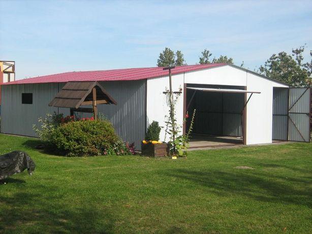 Garaże blaszane, 7 x 10 dwuspad, profil zamknięty, hale