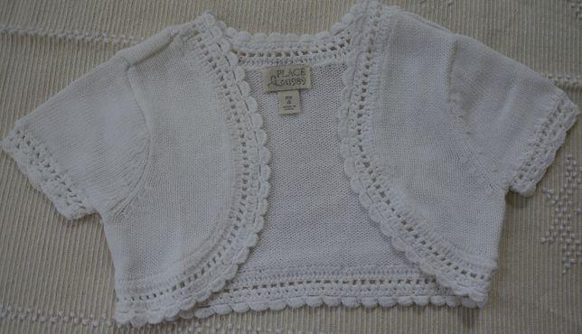 Bolero em algodão branco 4 anos