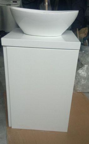 Zestaw mała łazienka:szafka podwiesz.,miska, syfon