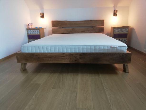 Łóżko Dębowe 160x200