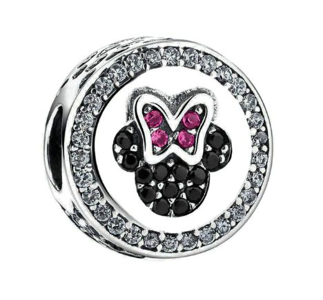 Pandora charms serce Miki i Minnie Disney srebro 925
