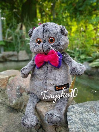 Мягкая игрушка толстый кот Басик Basik, кошечка Лили, кот Батон