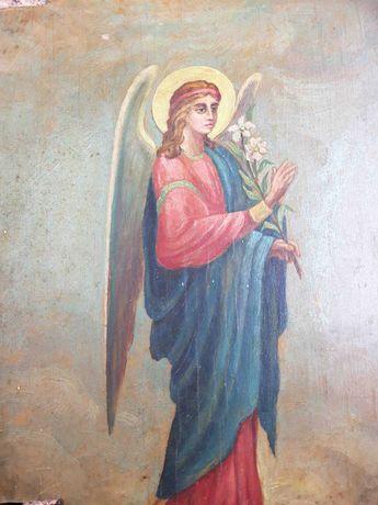 Икона Архангел Гавриил с райской ветвью (белой лилией)
