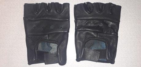Перчатки кожанные без пальцев