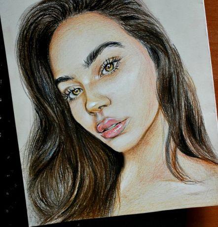 Рисую портреты по фото, картины на заказ (карандаш, масло)