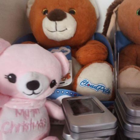 Плюшевые игрушки с бирками до 30 см в коробках медведь песик