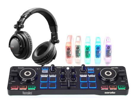 Konsola Hercules DJ Control Słuchawki Opaski LED