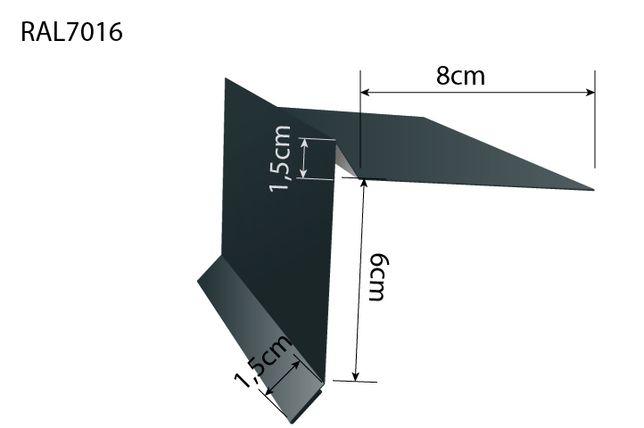 Wiatrownica aluminium mat papa gont ral 7016 grafit antracyt matowa
