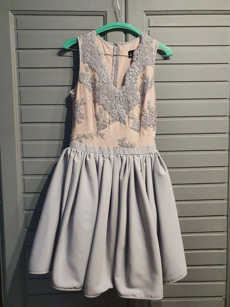 Sukienka szara LOU