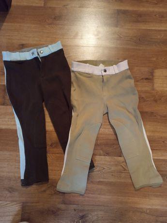 Bryczesy 2 pary,spodnie, jazda konna