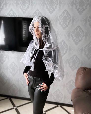 Палантин , церковный платок , палантин для венчания