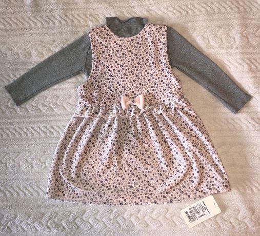 Платье тёплое 86 размер 18-24 мес