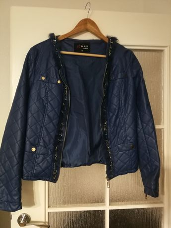 Niebieska kurtka skóra s, sliczna
