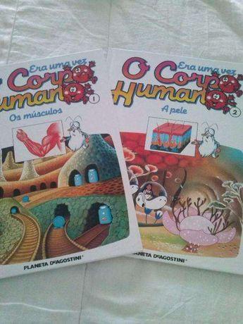 """Livros didáticos, coleção: """"O corpo humano"""""""