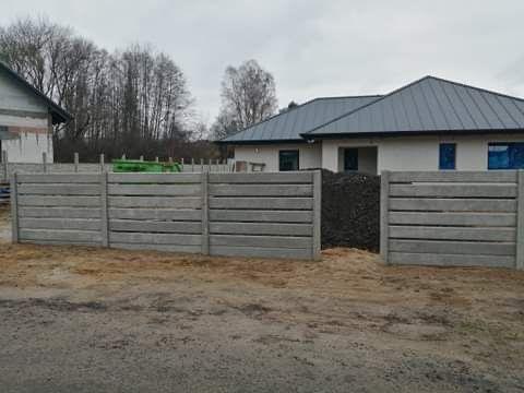 Ogridzenia ploty betonowe palisadowe panelowe