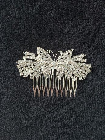 Srebrna ozdoba / grzebyk / spinka do włosów