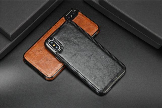 Capa em Pele para iPhone X, iPhone 7 8 e Samsung S9