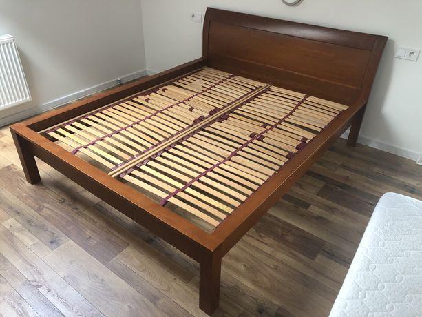 Łóżko KLOSE małżeńskie 160x200 duże materac 160/200 drewniane stelaż