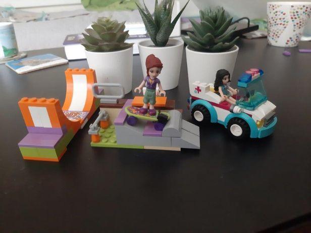 Lego friends - skate park, zagroda ze zwierzętami , auto + lalki