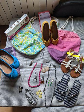 Buty torebki biżuteria