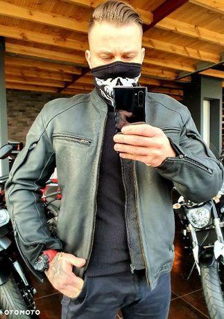 Skóra kurtka motocyklowa Rebelhorn Runner II Super jakość Klasyczny krój