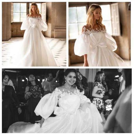 Свадебное платье и фата от дорогого итальянского бренда Milla Nova