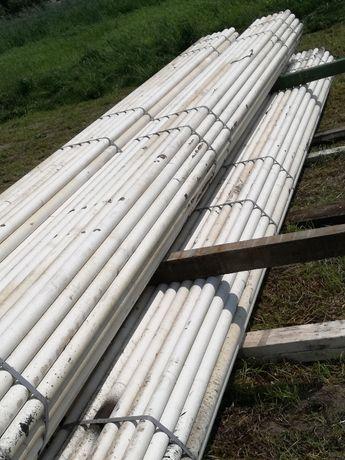 Ładne rury fi 51mm dł 6,5m słupki ogrodzeniowe siatka płot zagroda