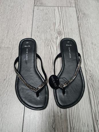 New Look klapki japonki wide fit damskie 37 czarne nowe