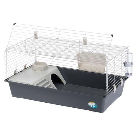 Klatka dla krolika świnki morskiej otwierana z boku domek paśnik 100cm