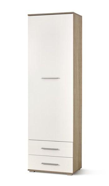 LIMA REG1 REGAŁ / 60/40/200 cm / dąb sonoma / biały