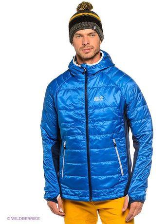 Утеплённая куртка jack wolfskin стеганная теплая парка худи