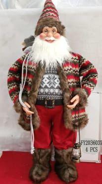 Mikołaj świąteczny - ozdoba bożonarodzeniowa Wielkość : 120 cm