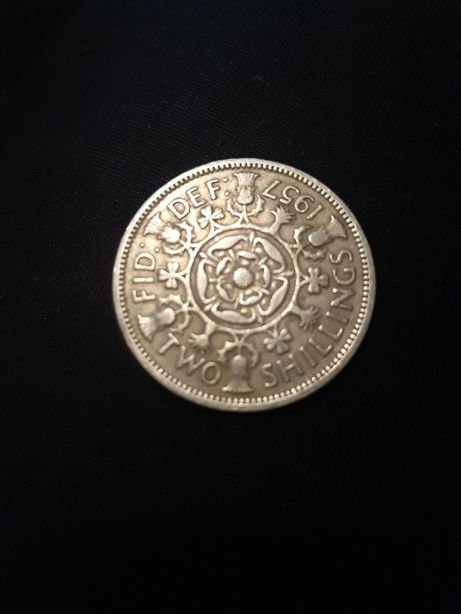 TWO shillings 1957r. FID :DEF