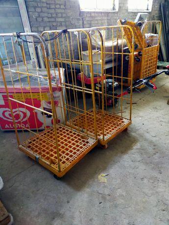 Platforma jeżdżąca transporter  kosz na drewno wózek na kołach paleta