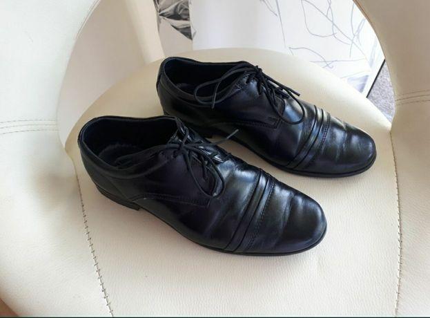 Eleganckie czarne pantofle  pantofle wyjsciowe mokasyny r.31