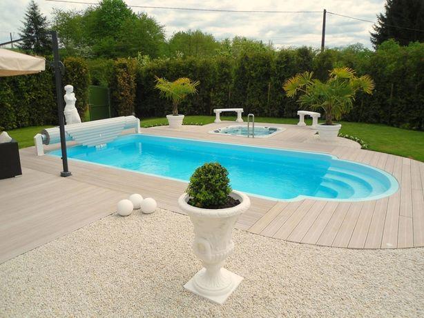 Basen ogrodowy kąpielowy poliestrowy gotowy 5,3x3,2 PRODUCENT
