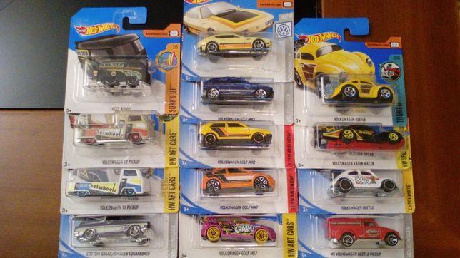 Volkswagen Beetle/Carocha e Pick Up/Kombi/T2/Golf Mk2/Audi R8Hotwheels