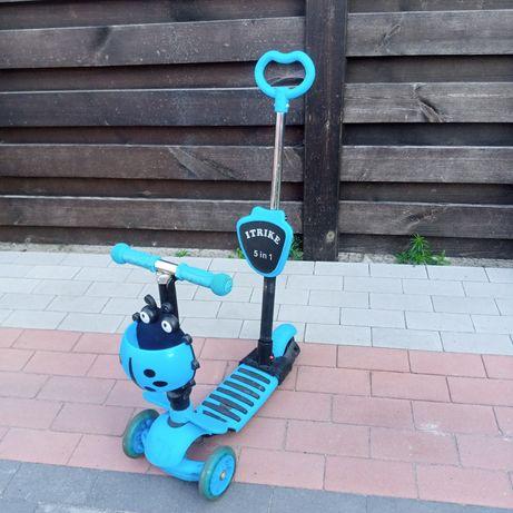 Самокат с ручкой детский с сиденьем самокат машинка толокар каталка