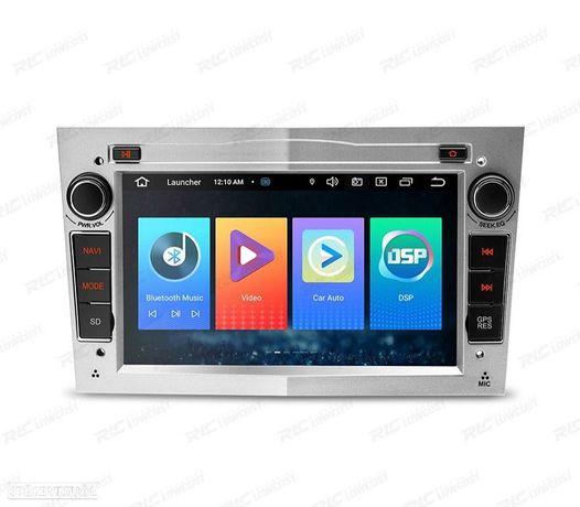 AUTO RADIO GPS ANDROID 10 CINZA CLARO OPEL ASTRA H / VIVARO / ZAFIRA / VECTRA / CORSA D QUAD CORE