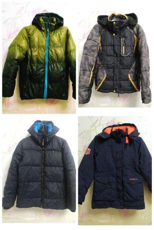 Куртки/курточки зимние/для зимы теплые р.140-164 мальчику/подростку