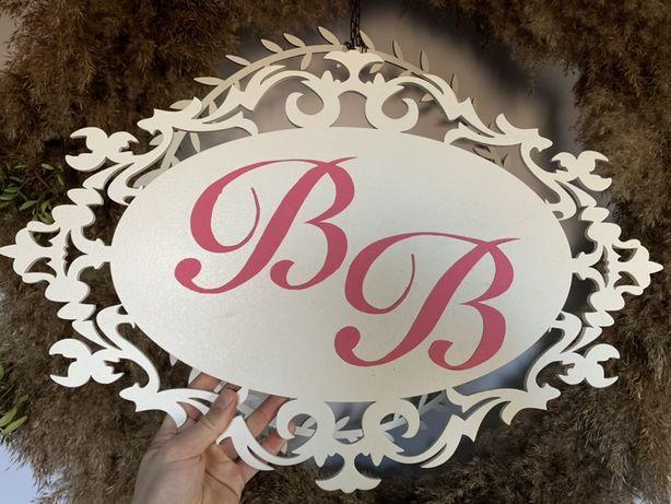 Рамка для инициалов на свадьбу