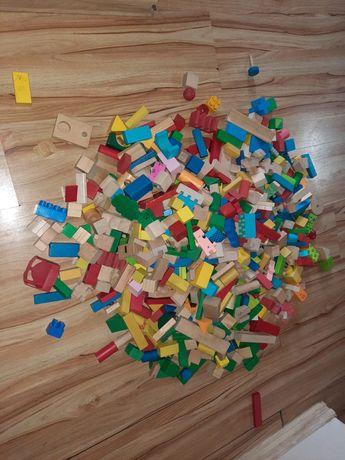 Kolorowe klocki drewniane 8.5kg 600 sztuk