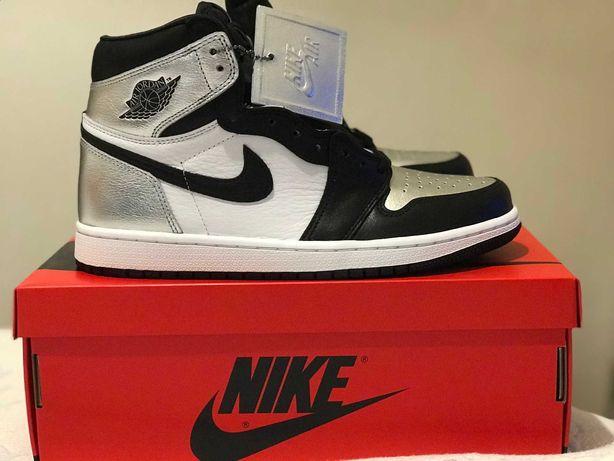 Jordan 1  High Silver Toe 41