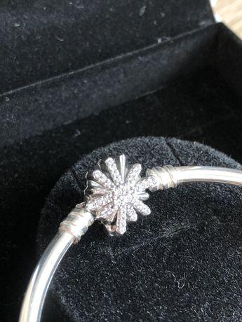 Pandora srebrna bransoletka Nowa rozm. 17 motyw fajerwerków.Limitowana
