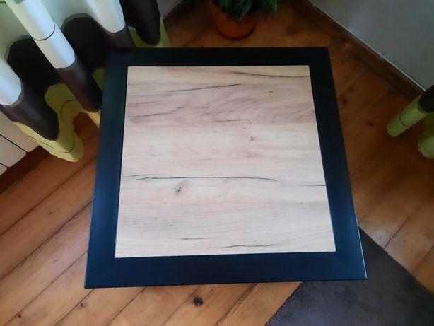 Sprzedam trzy stoliki kawowe syl loft malowane proszkowo blat płyta 18