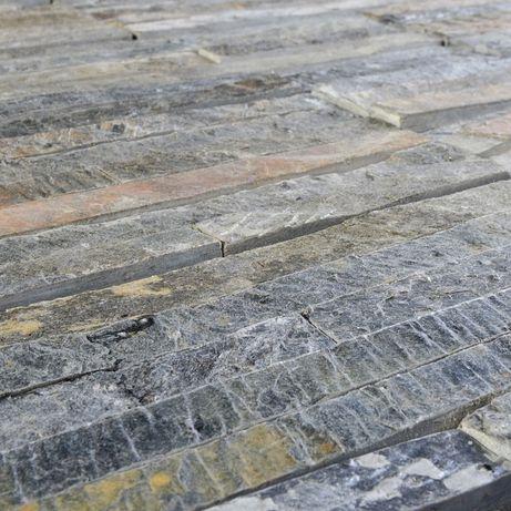 Panel ścienny Łupek Green Mica 10x40x0,8-1,3 cm