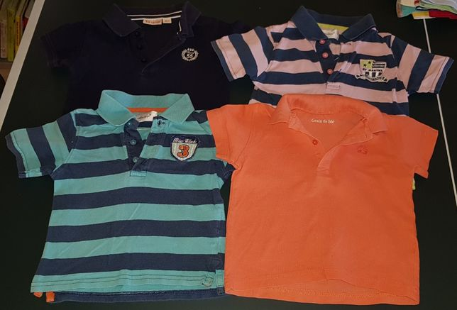 Podkoszulki, koszulki z krótkim rękawem, polo, T-shirt r.80-86