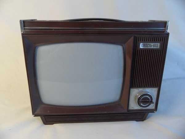 Stary telewizor przenośny JUNOST-603