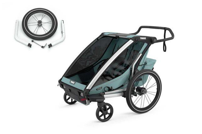 od ręki THULE Chariot CROSS 2 z kołem joggingowym  przyczepka rowerowa